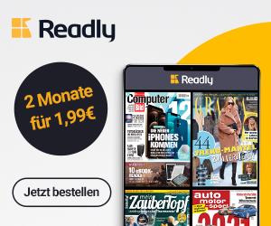 Readly 2 Monate für 1,99 Eur